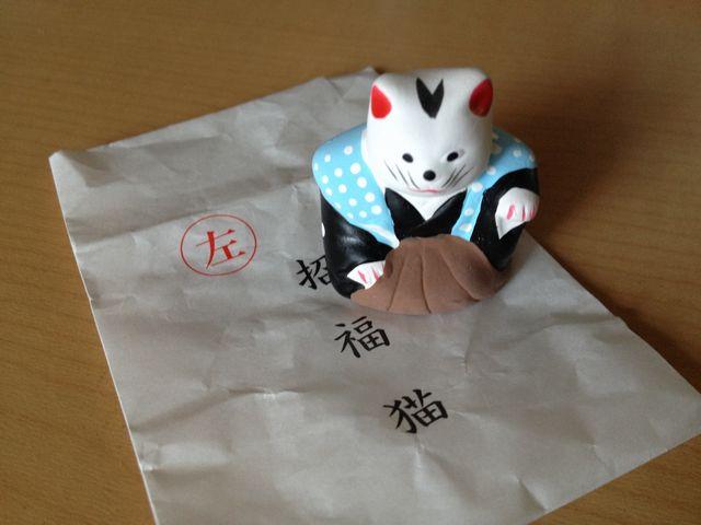 楠珺社の招福猫