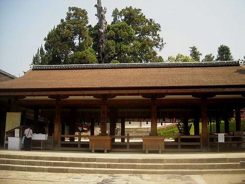 春日大社の拝殿